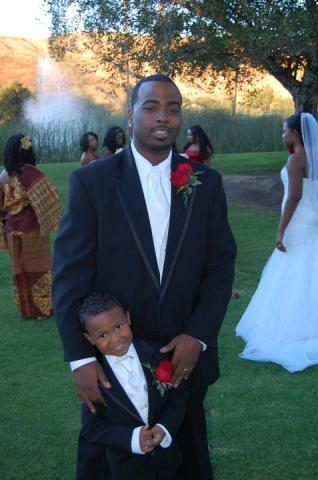 How about the Groom and Ringbearer by the Bride