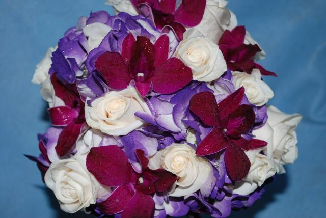 Hydrangea - Dendrobium Orchids - Roses forever and a day